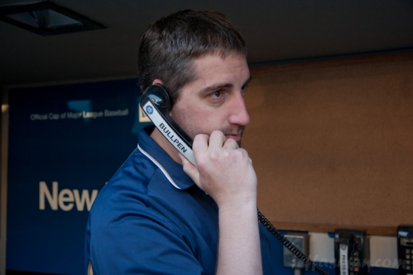 Making the US Cellular call to the Bullpen at Safeco Field.