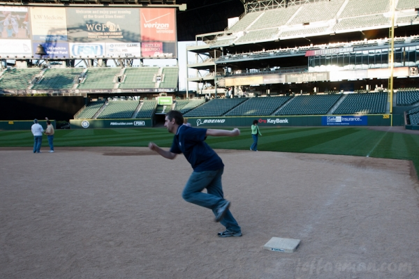 I think I'm going to be out, at Safeco Field.
