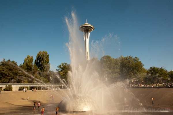 Space Needle from International Fountain