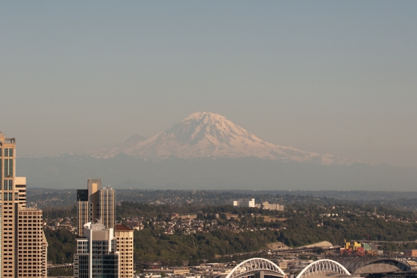 View Mount Rainier (55 miles) from Space Needle