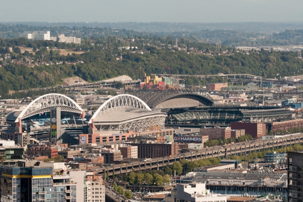 Qwest Field and Safeco Field