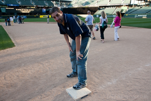 Me, still exhausted from my base hit at Safeco Field.