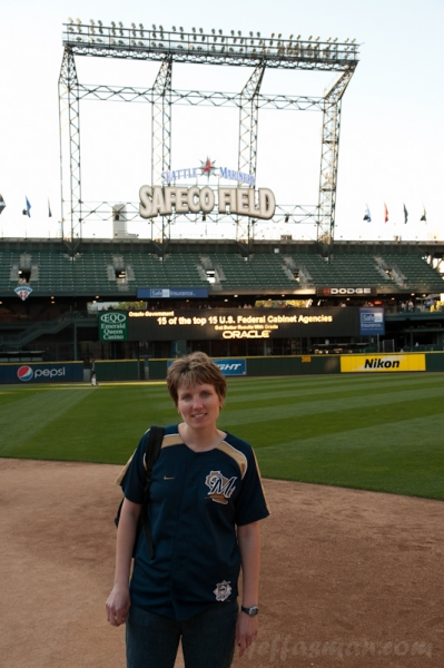 Kelli, at Safeco Field.