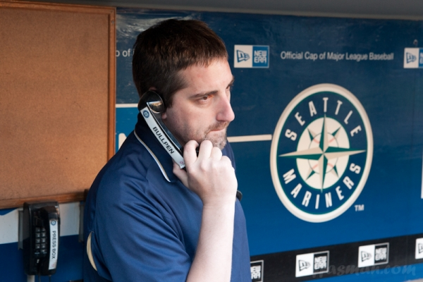General Manager Me, making the Us Cellular call to the Bullpen.