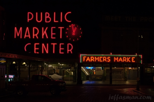 Pikes Place Market @ 1 AM.