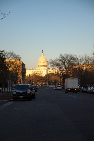 My first view of the Capitol.